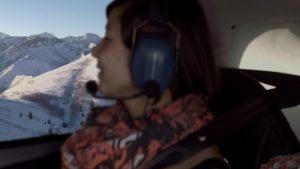 private ski flight to Chambery