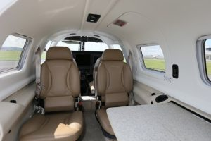 The interior of the Piper Meridian for rent