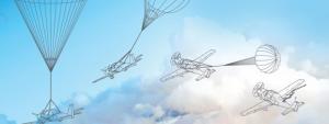 vliegtuig-parachute