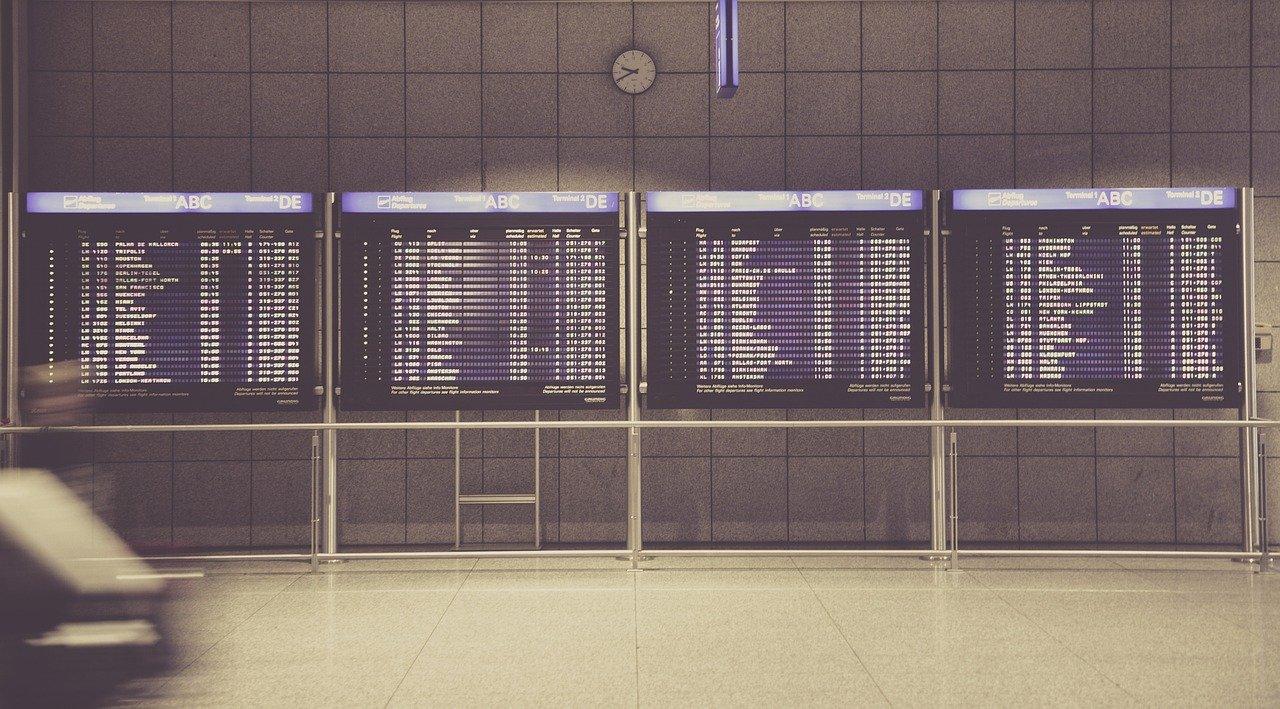 Départ aéroports internationaux