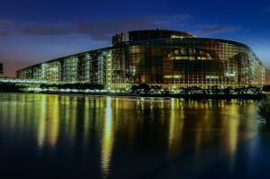 European Parliament Strasbourg night