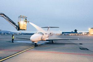private jet de-icing jet hire ski geneva