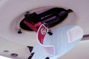 Aircraft parachute handle