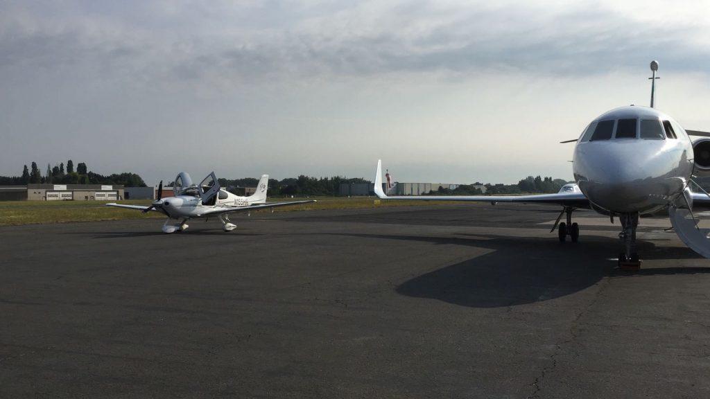 Propeller plane vs. private jet