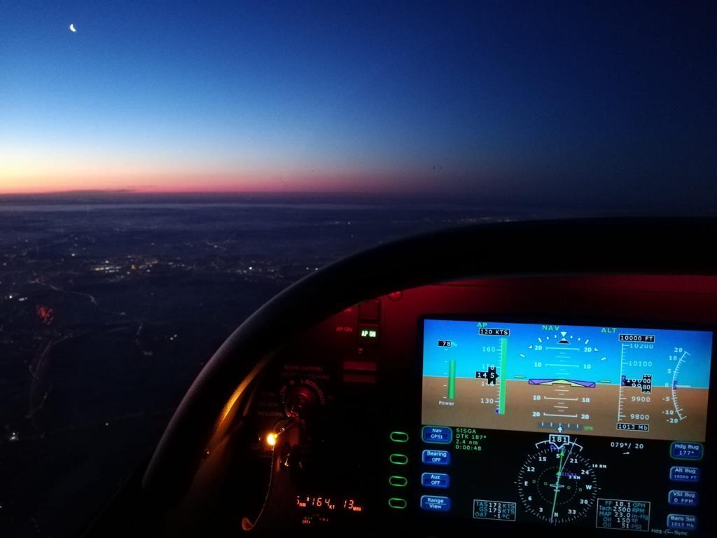 Fliegen bei Nacht