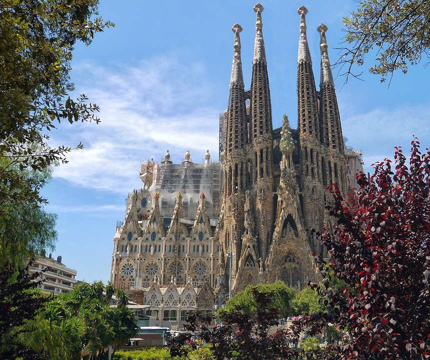 Sagrada familia Barcelone en jet privé