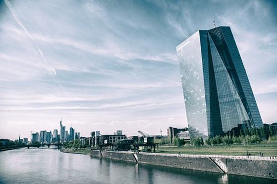Europäische Zentral Bank in Frankfurt