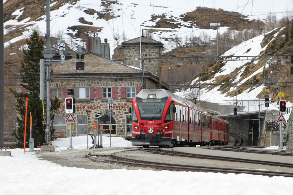 Bernina Pass trein