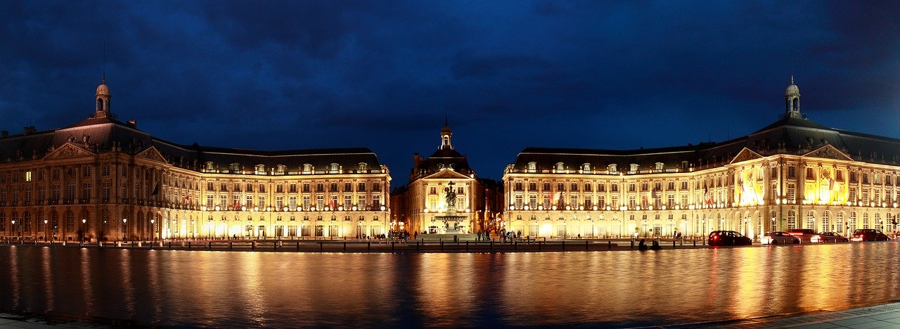 Place de la Bourse in Bordeaux, one of the most famous place in the city