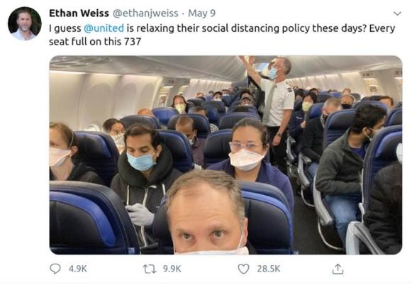 avion pendant le coronavirus