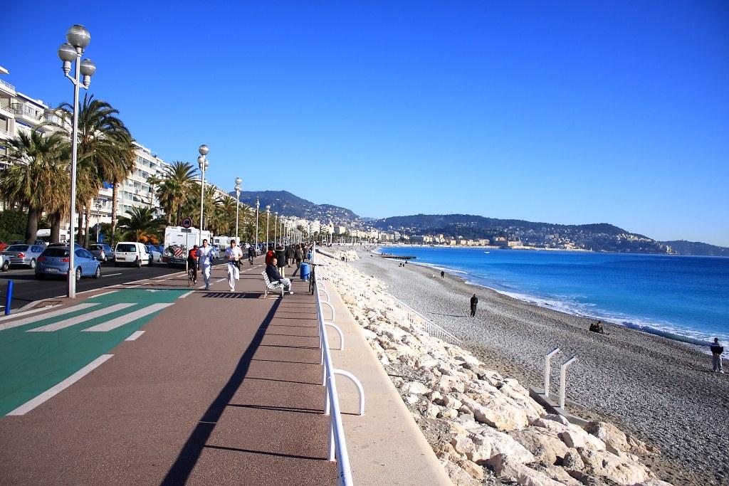 Privejet naar Nice, Promenade des Anglais