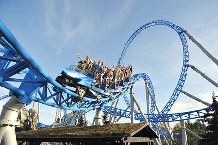 blue fire roller coaster
