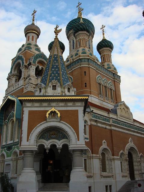 La cathédrale orthodoxe russe de Nice
