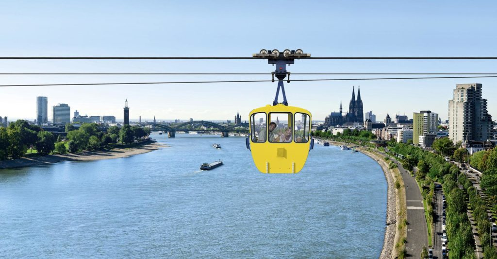 activities in cologne: Rhine cable car
