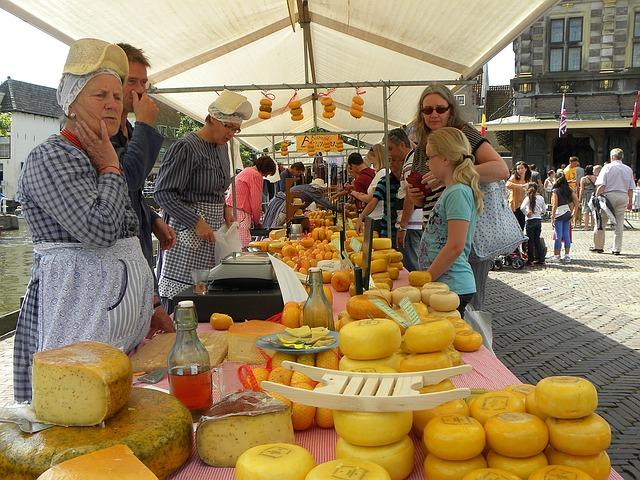 Alkmaar cheese market, sightseeing in the netherlands