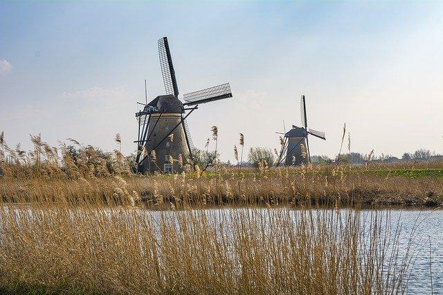 Windmills in Kinderdijk