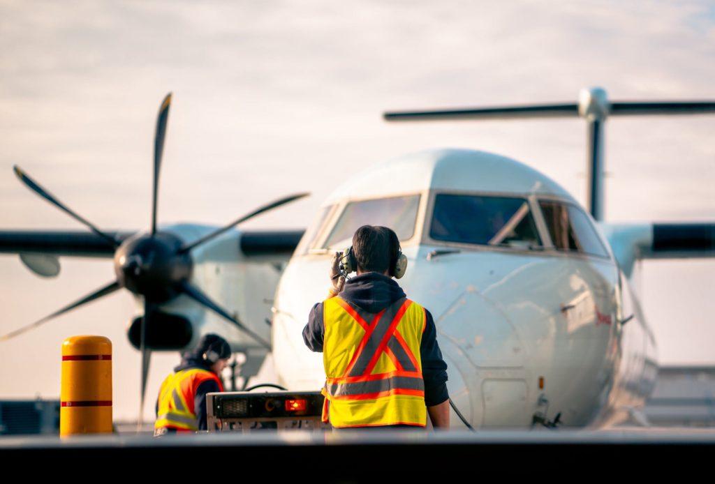 Airfield worker