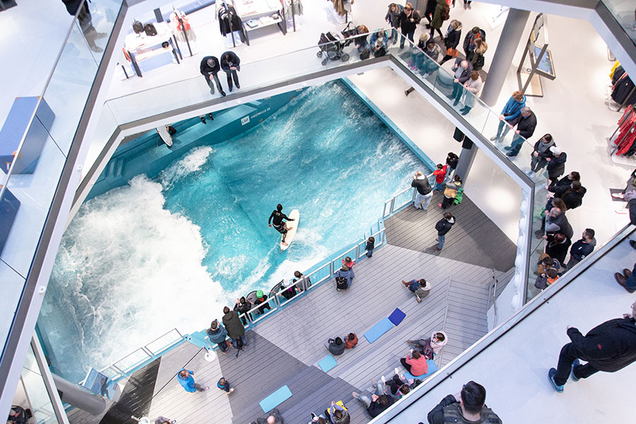Surfing in the L&T shopping mall