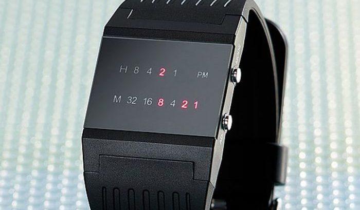 De meest unieke horloges: Binair horloge.