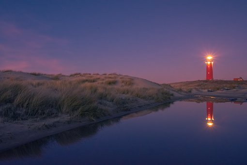 Island Texel by night