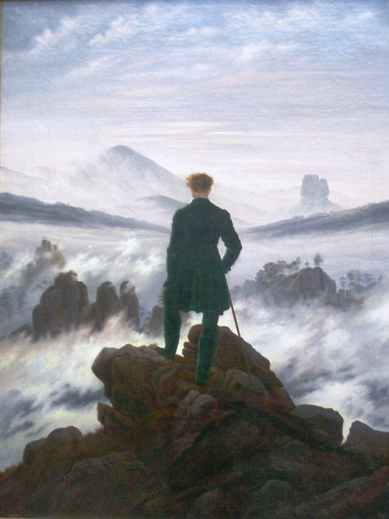 Wanderer above the Sea of Fog by artists Caspar David Friedrich