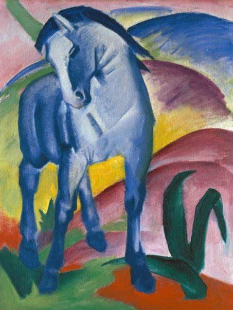 Das blaue Pferd von Künstler Franz Marc