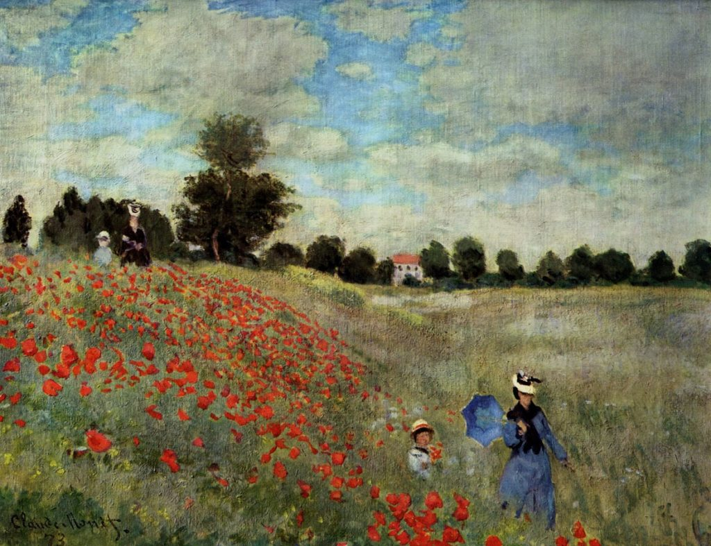 Poppy Fields near Argenteuil by Claude Monet
