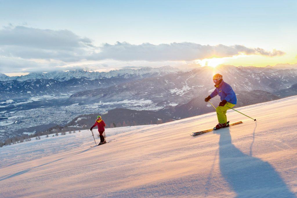 Skiing in ski area Turracher Höhe
