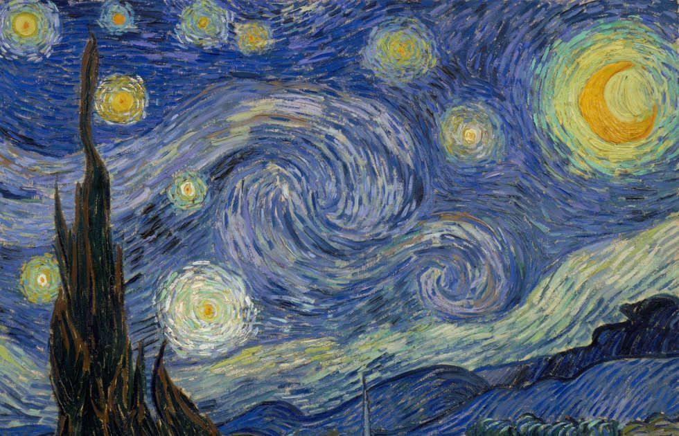 The starry night by artists Vincent van Gogh