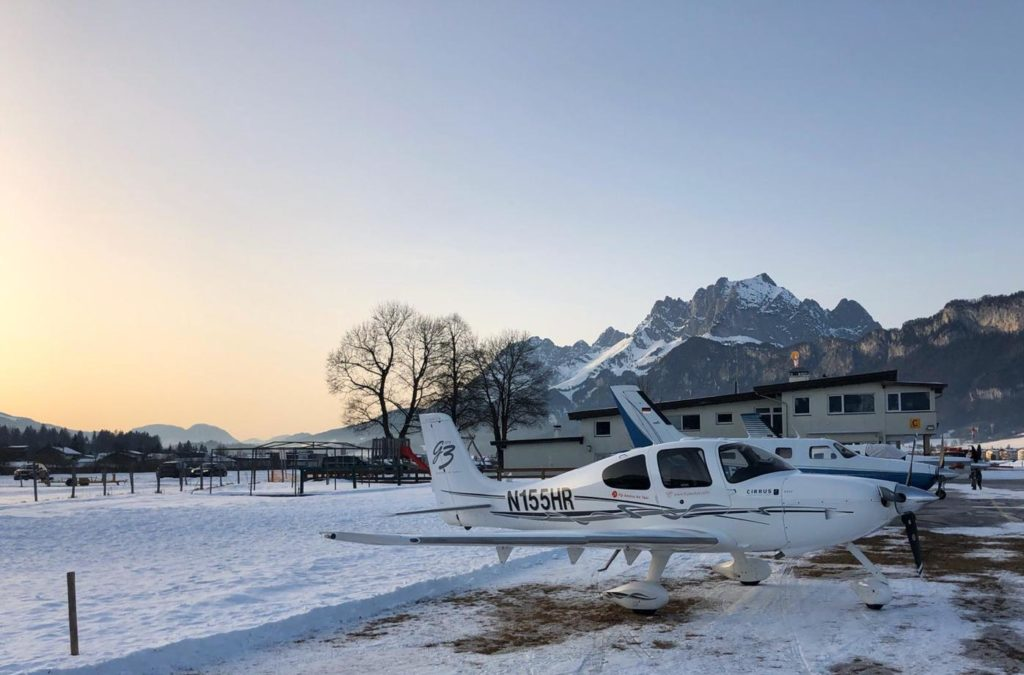 Flying winter holiday corona