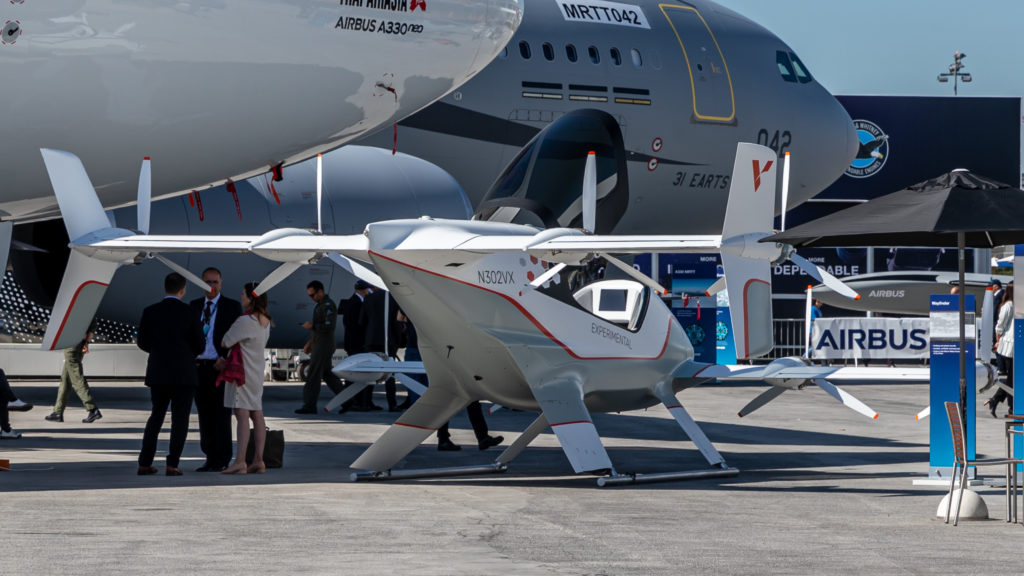 A prototype of an electric Airbus aircraft