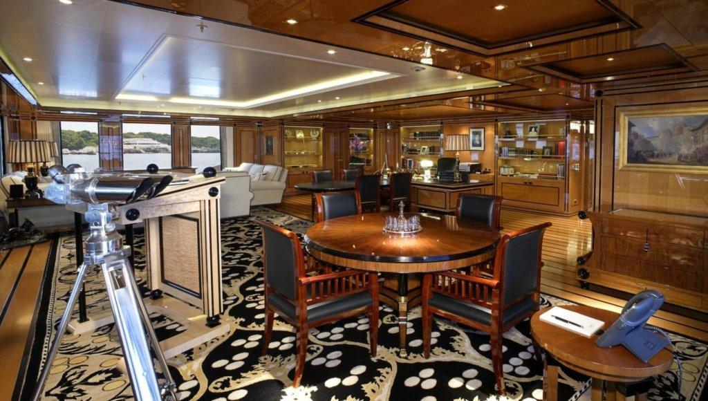 Dilbar Yacht interior