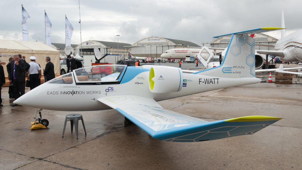 A electric aircraft prototype