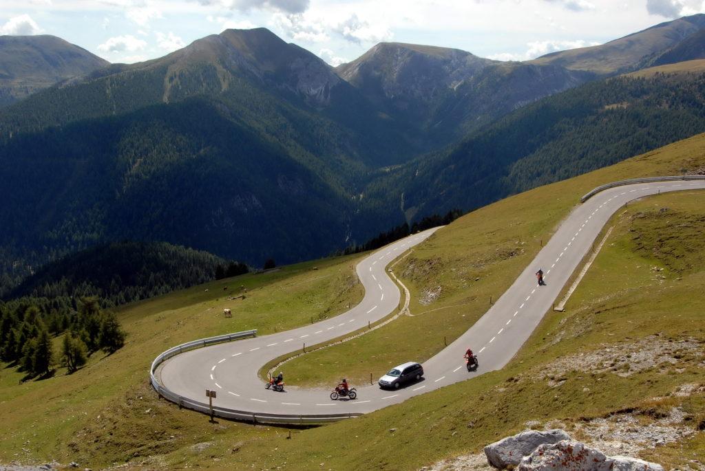 Route de Nockalm en moto